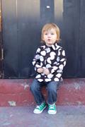 Bobinette-Spencer black polka dot shirt