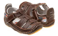 Rileyroos-Chessie in chocolate, infant sandal