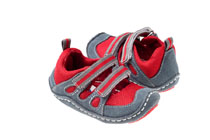 Rileyroos - Dakota in Fire Engine, infant sandal