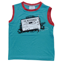 Addaboy - Muscle Tee in Turquoise