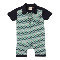 Fore Axel and Hudson - Arcade Print Romper