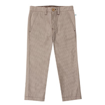 Fore Axel and Hudson - Classic Brown Pinstripe Trousers