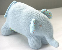 and the little dog laughed - Elbert, hand-knitted toy