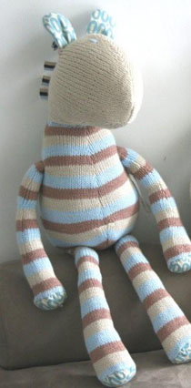 and the little dog laughed - Eugene, hand-knitted toy