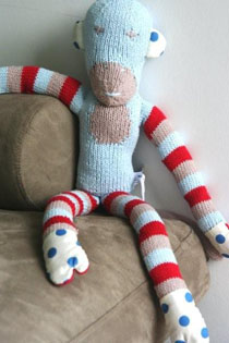 and the little dog laughed - Sam, hand-knitted toy