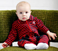 Knuckleheads-Infant Shooter Romper - Chevron Stripes