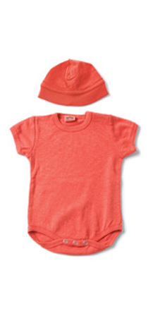 Appaman - Short-sleeved onesie with hat