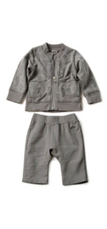 Appaman - Zip mock jacket with circle pants